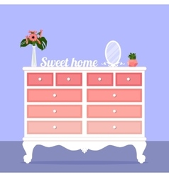 With chest of drawers vector