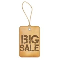 Big Sale Paper Old Label vector image