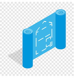 architectural project isometric icon vector image vector image