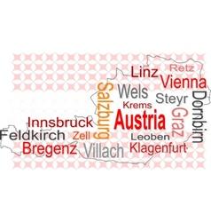 austria map vector image