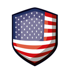 badge of flag united states of america colorful vector image