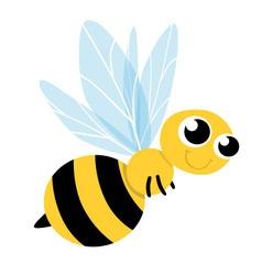 Bee cute cartoon vector