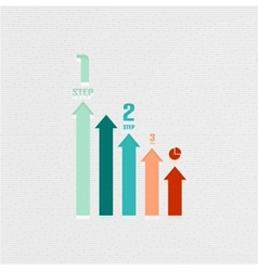 Business infographic lines design vector image vector image