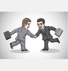 Cartoon businessmen dwarfs vector