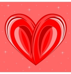 Decorative background with heart vector image