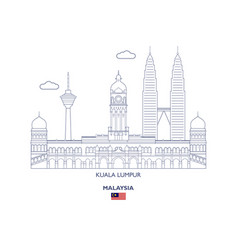 Kuala lumpur city skyline vector