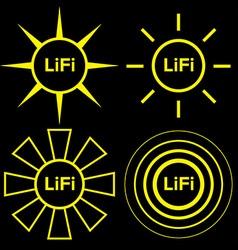 Lifi logo set vector