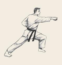 Martial artist vector