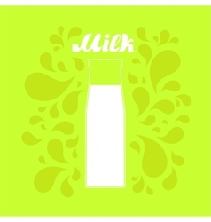 Milk in a glass bottle background vector image