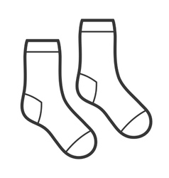 Pair of White Socks Icon vector image vector image
