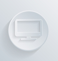 paper flat icon monitor vector image vector image