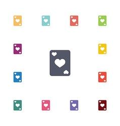poker flat icons set vector image vector image