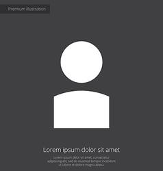 profile premium icon white on dark background vector image vector image