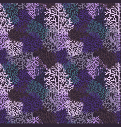 Purple corals seamless pattern vector