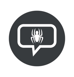 Round spider dialog icon vector