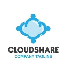 Share cloud design vector