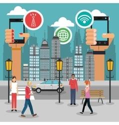 Smart city design vector