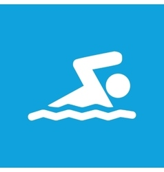 Swimming icon simple vector