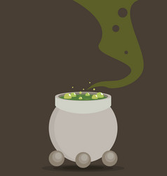 symbols cauldron icon halloween concept vector image vector image