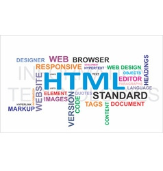 Word cloud html vector