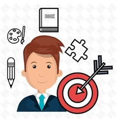 man target student icon vector image