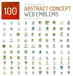 Set of 100 web internet concepts logo icons vector