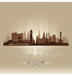 Glasgow scotland skyline city silhouette vector