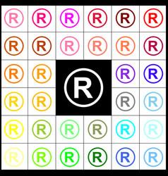 registered trademark sign  felt-pen 33 vector image