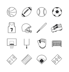 Team sports icons vector