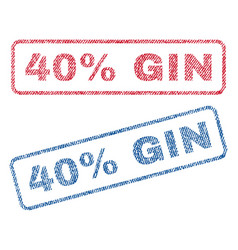 40 percent gin textile stamps vector