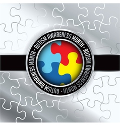 Autism awareness month badge vector