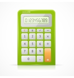Green calculator vector
