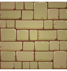 Stone block wall - yellow vector