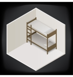 Bunk bed isometric perspective view vector