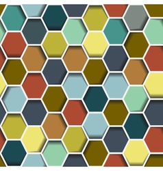 seamless abstract hexagon vector image