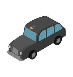 London black cab icon isometric 3d style vector