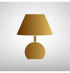 Lamp sign flat style icon vector