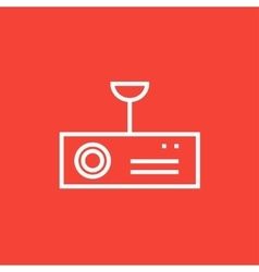 Digital projector line icon vector