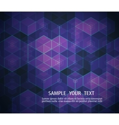A geometric design of hexagons abstract background vector