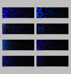 Abstract digital rounded square pattern banner vector