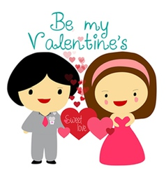 Be my valentines vector