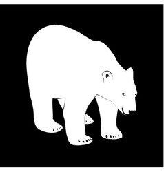 Black and white polar bear vector image