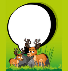 Border template with two deers vector