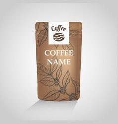 Coffee packaging design template vector