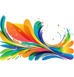 colorful abstract frame element on white vector image vector image