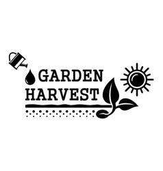 Concept harvest symbol vector