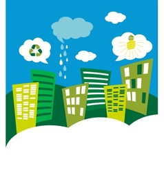 eco green city skyline vector image vector image