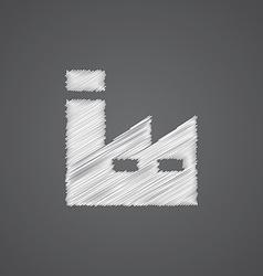 Factory sketch logo doodle icon vector