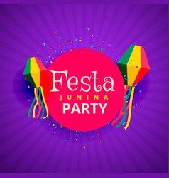 Festa junina june party festival background vector