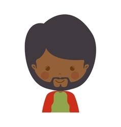 Front face wise man melchor cartoon vector